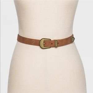 NWOT Universal Thread cognac gold western belt